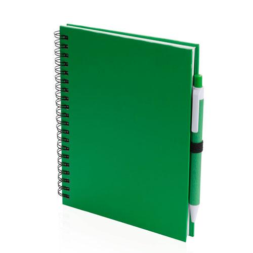 Quaderno riciclato a spirale A5 verde
