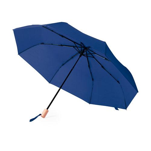 Ombrello pieghevole personalizzato Nature, foto di copertina blu