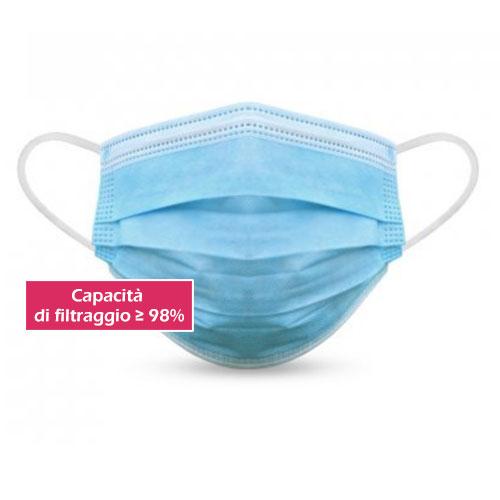 Mascherina chirurgica tipo II, filtraggio 98%