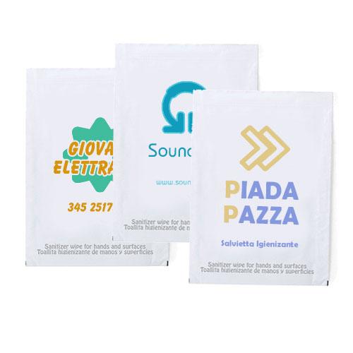 Salvietta igienizzante personalizzata stampata
