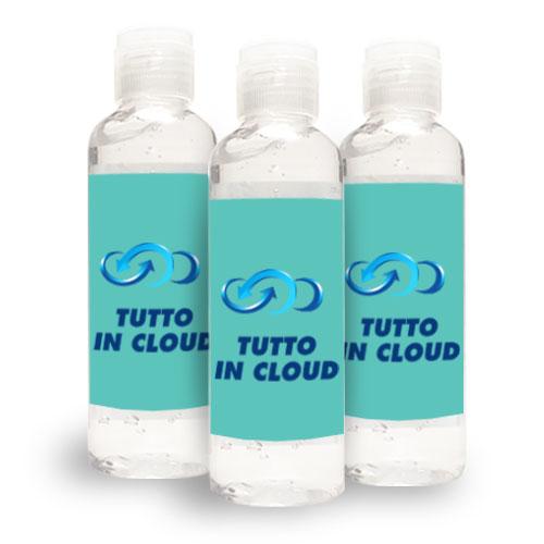 Gel igienizzante mani personalizzato 100 ml etichetta cloud