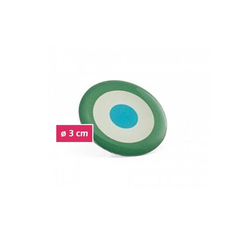 spilla tonda flessibile personalizzata pin flessibili personalizzabili